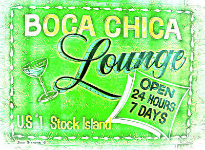 Photograph - Boca Chica Lounge Stock Island Florida Keys Lime by John Stephens