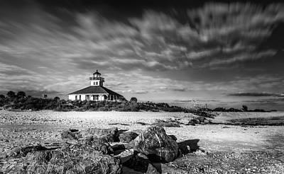 Grande Photograph - Boca Grande Florida Bw by Marvin Spates