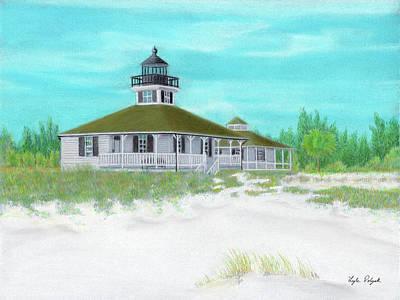 Pastel - Boca Grande Lighthouse by Lyle Polyak