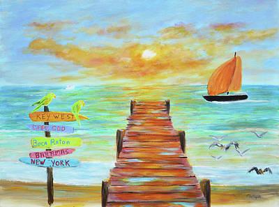 Painting - Boca Raton Florida by Ken Figurski