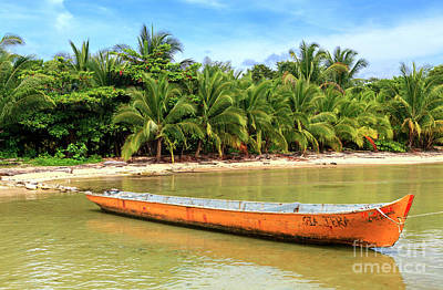 Photograph - Bocas Del Drago Canoe Panama by John Rizzuto
