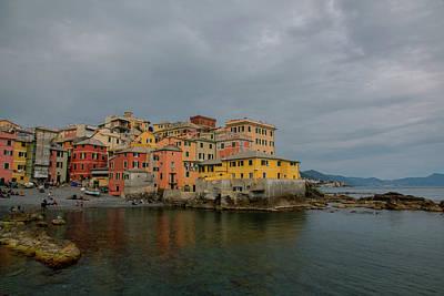 Genoa Bar Photograph - Boccadasse Bay, Genoa, Italy by Cesare Palma