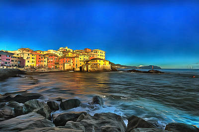 Photograph - Boccadasse Beach On An Autumn Bright Sunny Day by Enrico Pelos