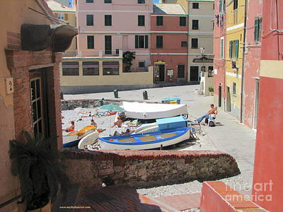 Photograph - Boccadasse-  Genoa- Harbor by Italian Art