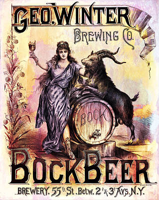 Digital Art - Bock Beer Poster by Carlos Diaz