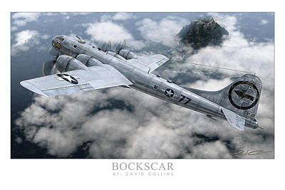 Digital Art - Bockscar  by David Collins