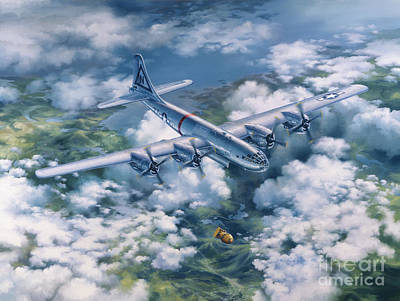 Painting - Dawn Of A Thousand Suns - Bockscar Over Nagasaki by Randy Green