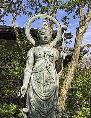 Bodhisattva Photograph - Boddhisattva Buddhist Deity - Kyoto Japan by Daniel Hagerman