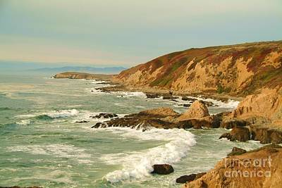 Beach Photograph - Bodega Bay Coastline  One by Alberta Brown Buller