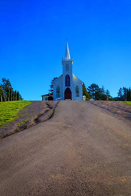 Photograph - Bodega Church At Top Of Hill by Garry Gay