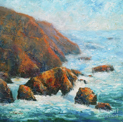 Painting - Bodega Head Trail by Carolyn Jarvis
