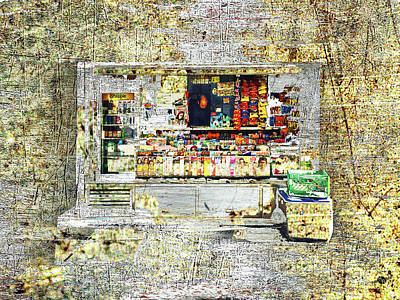 Mixed Media - Bodega In Steel And Bronze. by Tony Rubino