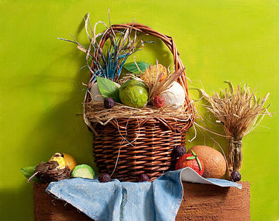 Huevos Painting - Bodegon by Marlene Gasiba