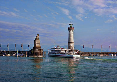 Photograph - Bodensee Ferryboat At Lindau by Tatiana Travelways