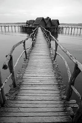 Bodensee Walkway B And W Art Print