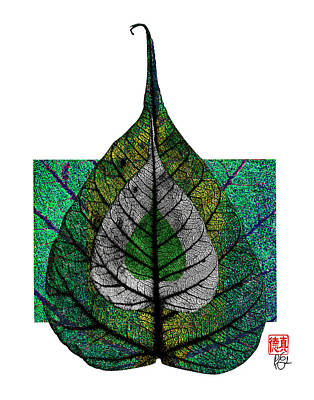 Dharma Mixed Media - Bodhi Leaf by Peter Cutler