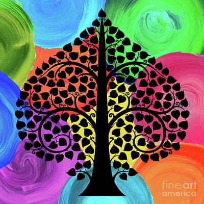 Bodhi Tree2_watercolor02-2 Print by Bobbi Freelance