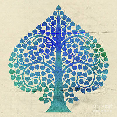 Bodhi Tree Digital Art - Bodhi Tree2_water Color01-3 by Bobbi Freelance