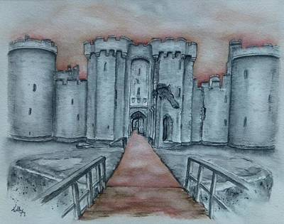 Painting - Bodiam Castle East Sussex by Kelly Mills