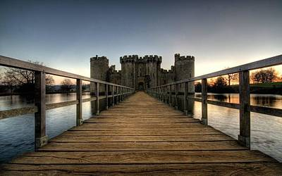 Cities Digital Art - Bodiam Castle by Maye Loeser