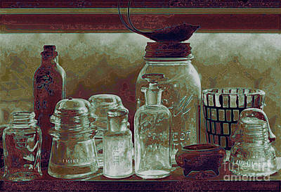 Photograph - Bodie Antique Glass - Glass Ware Vi by Sharon Hudson