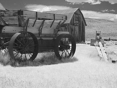 Wagon Wheels Photograph - Bodie Ca - Praise The Lord And Pass The Ammunition by Christine Till
