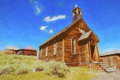 Painting - Bodie California Ghost The Old Methodist Church Ap by Dan Carmichael