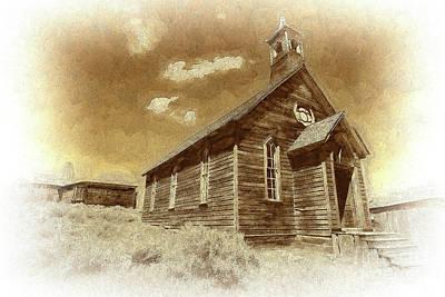 Photograph - Bodie California Ghost The Old Methodist Church Bw by Dan Carmichael