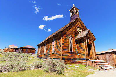 Photograph - Bodie California Ghost The Old Methodist Church by Dan Carmichael