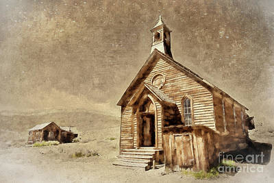 Digital Art - Bodie California Ghost Town Church Ap by Dan Carmichael