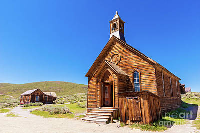 Photograph - Bodie California Ghost Town Church by Dan Carmichael