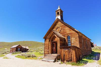 Photograph - Bodie California Ghost Town Church by Dan Carmichael