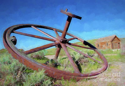 Digital Art - Bodie California Ghost Town - Oh, Dear A Gear Ap by Dan Carmichael