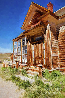 Digital Art - Bodie California Ghost Town Old House Ap by Dan Carmichael