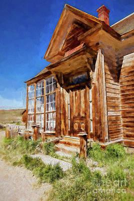 Digital Art - Bodie California Ghost Town Old House Ap by Dan Carmichael