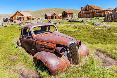 Photograph - Bodie California Ghost Town Old Rusty Vintage Car by Dan Carmichael