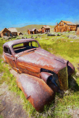 Painting - Bodie California Ghost Town The Old Car Ap by Dan Carmichael