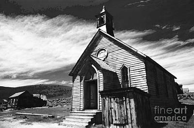 Manipulation Photograph - Bodie Church 1977 by Norman  Andrus