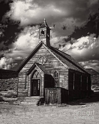 Photograph - Bodie Church In Black And White by Jim And Emily Bush