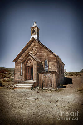 Art Print featuring the photograph Bodie Church by Jim  Hatch