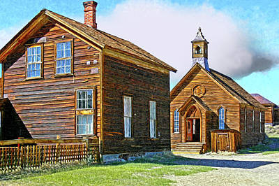 Bodie Church Stylized Eastern Sierra Photo Art Print