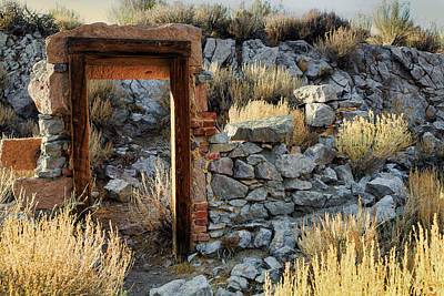 Photograph - Bodie Doorway by Gary Eyring