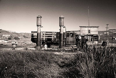 Photograph - Bodie Gas Pumps by Gary Brandes