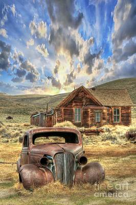 Rusted Cars Photograph - Bodie Ghost Town by Benanne Stiens
