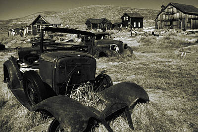 Photograph - Bodie Ghost Town California - Vintage Photo Art Print by Art America Gallery Peter Potter