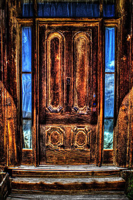 Photograph - Bodie Ghost Town Front Door Detail by Roger Passman