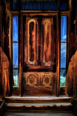 Photograph - Bodie Ghost Town Front Door Digital Painting by Roger Passman