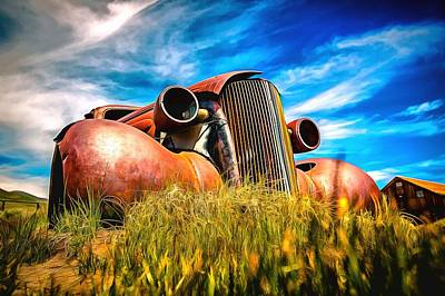 Photograph - Bodie Ghost Town Iconic Abandoned Rusty Wreck by Studio Artist