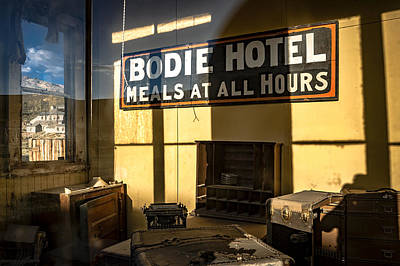 Window Signs Photograph - Bodie Hotel by Cat Connor
