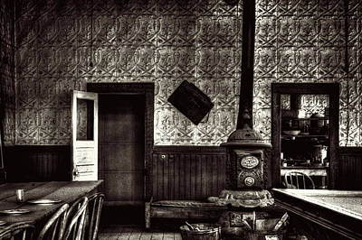 Photograph - Bodie Hotel Dining Room With Pool Table by Roger Passman
